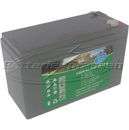 AGM batteri 12V 7,5Ah Batteriexpressen för larm UPS. LxBxH:150x65x99mm EAN 731304003243