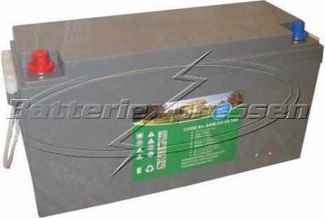 AGM batteri 12V 128Ah Batteriexpressen. LxBxH:409x177x209/233mm