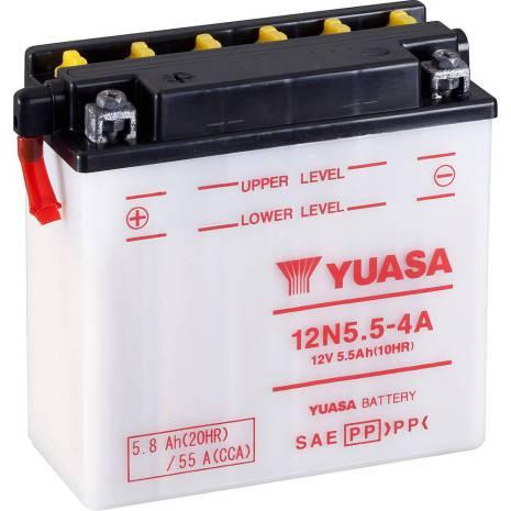 YUASA MC batteri 12V 5,8Ah 12N5.5-4A LxBxH:138x61x131mm