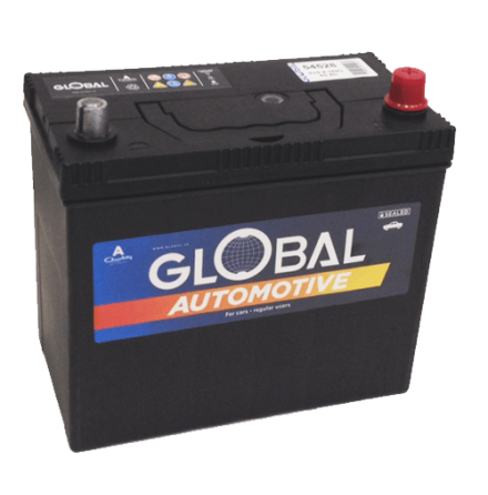 Bilbatteri 12V 45Ah Global 54528 LxBxH:238x128x202/225mm EAN 7394086545283