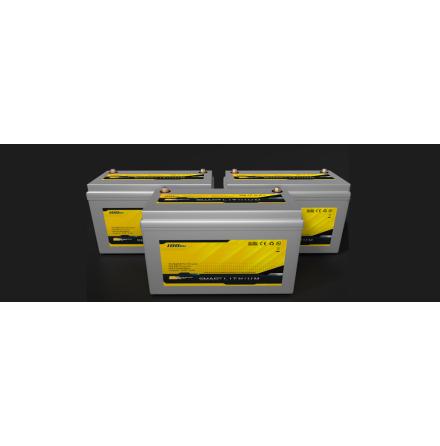 Lithium batteri Till båt,husbil mm. 100Ah SmartLithium lxbxh=340x170x210mm inbyggd batterivakt och APP. 1280Wh