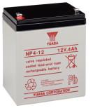 AGM batteri YUASA  NP4-12 12V 4Ah LxBxH:90x70x106mm