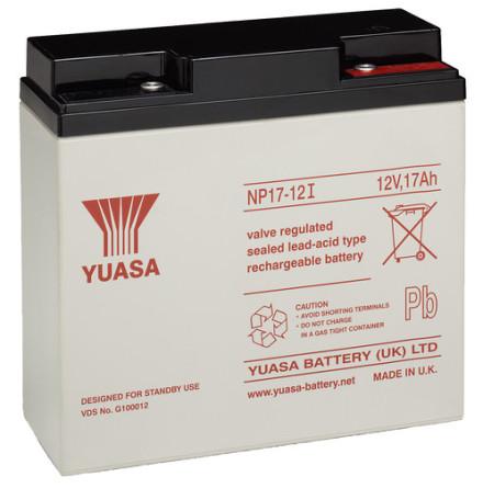 AGM batteri YUASA  NP17-12 12V 17Ah LxBxH:181x76x167mm