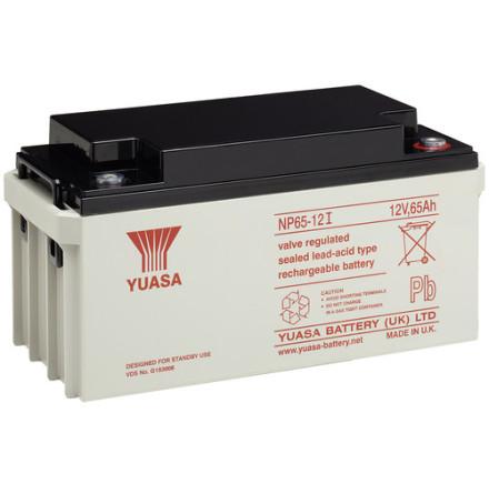 AGM batteri YUASA  NP65-12 12V 65Ah LxBxH:350x166x174mm