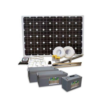 SUNWIND SOLPANELSPAKET BASIC 3, 100W PANEL MED 254AH BATTERI EAN7340068920708