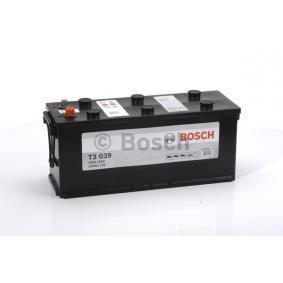 Bilbatteri 12V 120Ah Bosch T3039 DIN: 620109076 LxBxH: 510x175x235mm