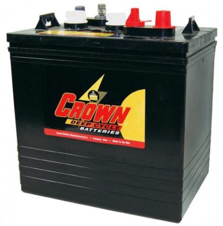Deep-cycle batteri 6V 220Ah CROWN LxBxH: 260x181x273mm Typ T-105 TROJAN.
