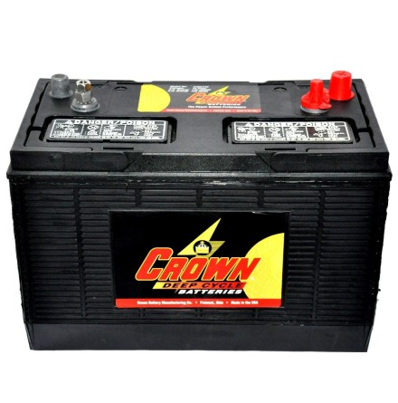 Deep-cycle batteri 12V 130Ah CROWN LxBxH:330x171x238mm Typ 31XHS Trojan