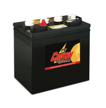 Deep-cycle batteri 8V/165 Ah CROWN lxbxh=262x179x273mm TROJAN T-875 motsvarande