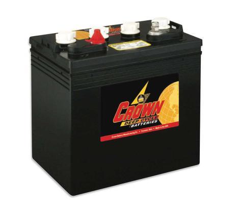 Deep-cycle batteri 8V/190 Ah CROWN lxbxh=262x181x273mm TROJAN T-890 motsvarande