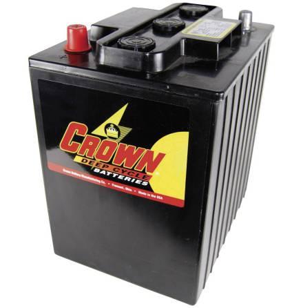 Deep-cycle batteri 6V 240Ah CROWN LxBxH: 244x190x273mm Typ TE35 Trojan.