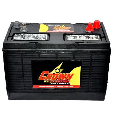 Deep-cycle batteri 12V 130Ah CROWN LxBxH:330x171x238mm Typ 31XHS Trojan