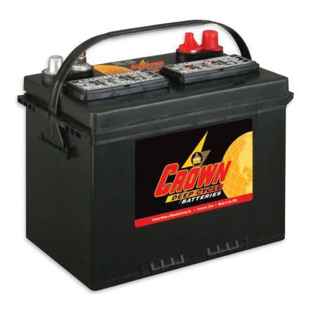 Deep-cycle batteri 12V 95Ah CROWN LxBxH:276x171x238mm Typ 24TMX Trojan