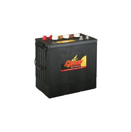 Deep-cycle batteri 6V 330 Ah CROWN lxbxh=301/310x183x359mm motsvarar TROJAN J305G-AC