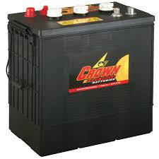 Deep-cycle batteri 6V 330 Ah CROWN lxbxh=301/310x183x359mm motsvarar TROJAN J305G-AC