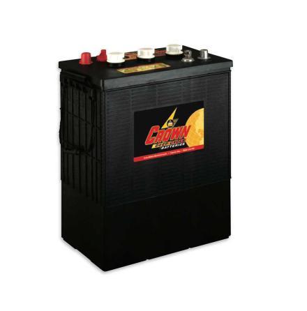 Deep-cycle batteri 6V 430 Ah CROWN lxbxh=301/314x183x410mm Typ TROJAN L16H-AC