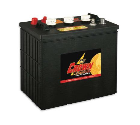 Deep-cycle batteri 6V 275 Ah CROWN lxbxh=298x183x286mm Typ TROJAN J250P