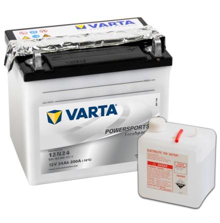 MC-batteri 24Ah Varta 12N24-4 lxbxh=186x125x178mm 524100020