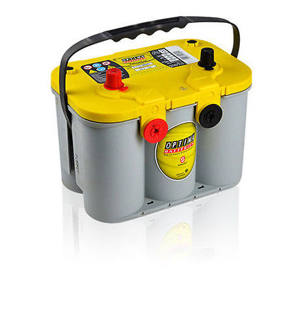 Optima batteri 12V 55Ah Yellow Top U 4,2L 8014-254 LxBxH:254x175x200mm