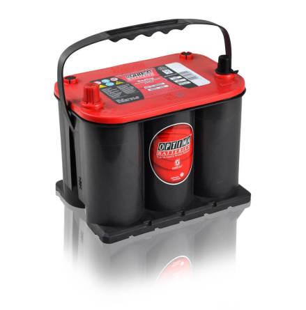 Optima startbatteri 12V 44Ah Red Top S3,7L, 8020-255 LxBxH:237x172x197mm