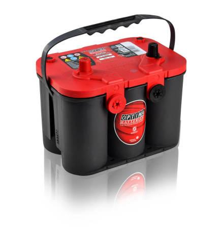 Optima startbatteri 12V 50Ah Red Top U4,2L 8004-250 LxBxH:254x175x200mm
