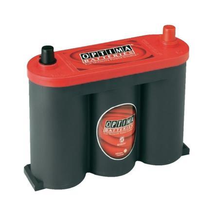 Optima startbatteri 6V 50Ah Red Top RTS 2.1 8010-355 LxBxH:254x90x203mm