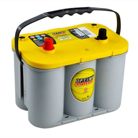 Optima batteri 12V 55Ah Yellow Top S 4,2L 8012-254 LxBxH:254x175x200mm