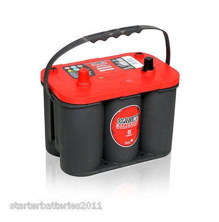 Optima batteri 12V 50Ah Red Top S 4,2L 8002-250 LxBxH:254x175x200mm