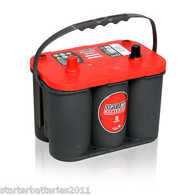 Optima batteri 12V 50Ah Red Top S 4,2L 8002-250 LxBxH:254x175x200mm