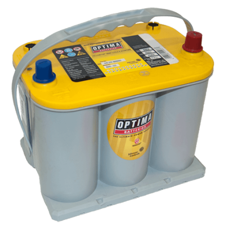 Optima batteri 12V 48Ah YellowTop R 3,7L 8040-222 LxBxH:237x175x200mm EAN8025223222864
