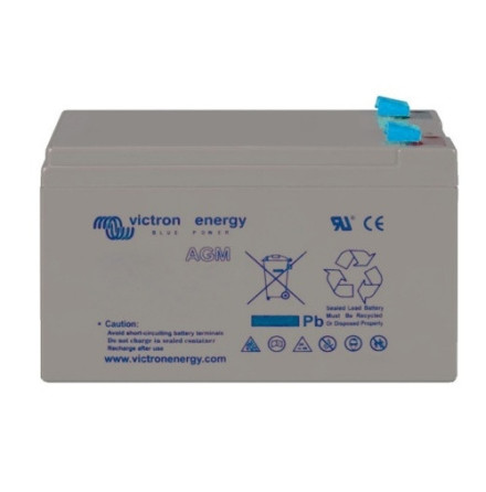Victron 12V/12,5Ah AGM Super Cycle Batt. (Faston-tab 6.3x0.8mm)