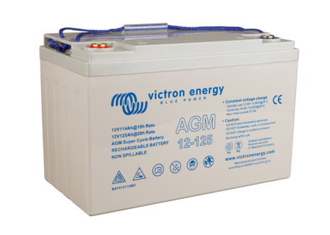 Victron 12V/125Ah AGM Super Cycle Batt. (M8)