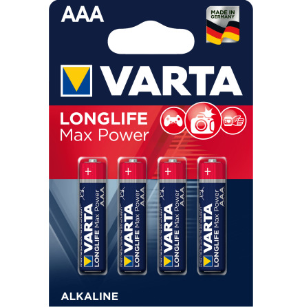 VARTA LONGLIFE Max Power AAA/LR03 4-PACK