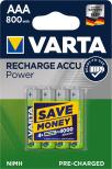 VARTA ACCU POWER R2U AAA 800mAh 4-PACK