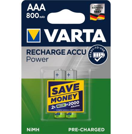 VARTA ACCU POWER R2U AAA 800mAh 2-PACK