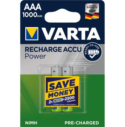 VARTA RECHARGE ACCU POWER R2U AAA 1000mAh 2-PACK