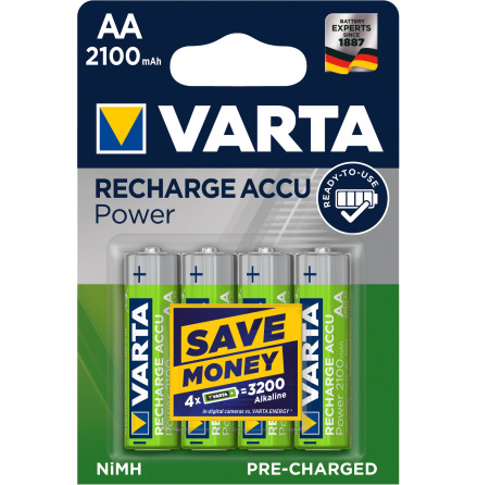 VARTA RECHARGE ACCU POWER R2U AA 2100mAh 4-PACK