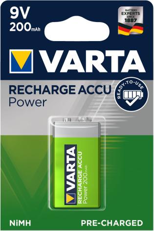 VARTA ACCU POWER R2U 9V 200mAh 1-PACK