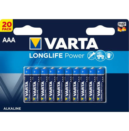 VARTA LONGLIFE Power AAA/LR03 20-PACK