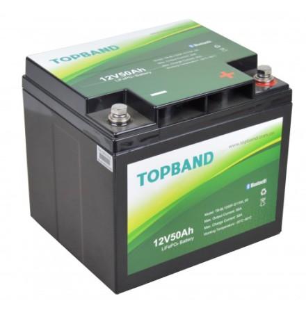 Topband Litium 12V 50Ah BLUETOOTH