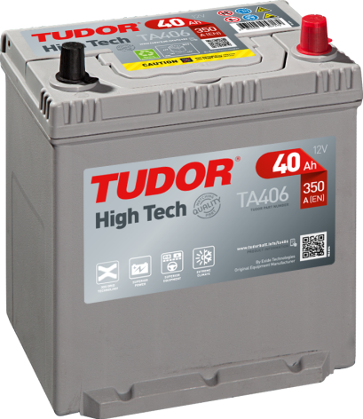Startbatteri Tudor 12V 40 Ah TA406 HIGH-TECH