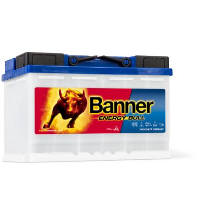 Fritidsbatteri 12V 80Ah Banner Energy Bull 95601. LxBxH: 278x175x190mm