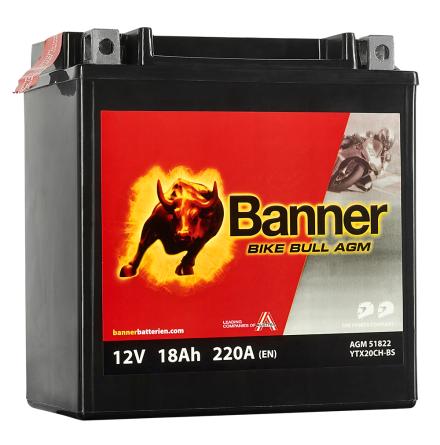 Banner Mc Batteri AGM YTX20CH-BS 12V 20Ah