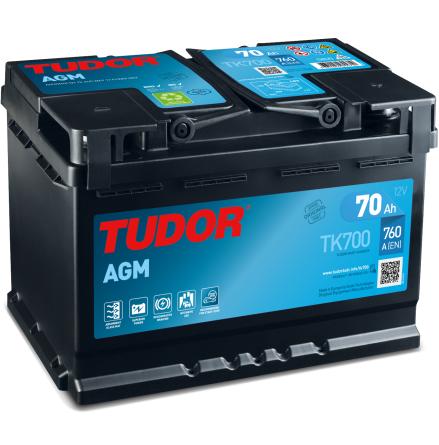 Tudor Exide AGMbatteri Startstop 12V/70Ah