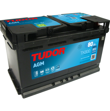 Tudor Exide AGMbatteri Startstop EFB 12V/80Ah