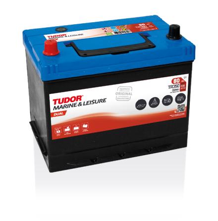 Tudor fritidsbatteri 12V/80Ah---