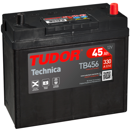 Startbatteri 45Ah Tudor Exide TB456 Technica---