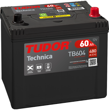Startbatteri Tudor 12V/60Ah---