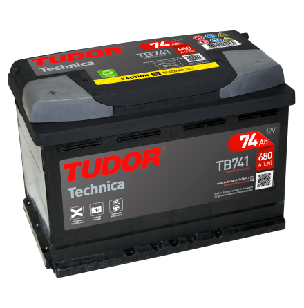 Startbatteri 74Ah Tudor Exide TB741 Technica