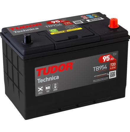Startbatteri 95Ah Tudor Exide TB954 Technica. LxBxH:306x173x222mm
